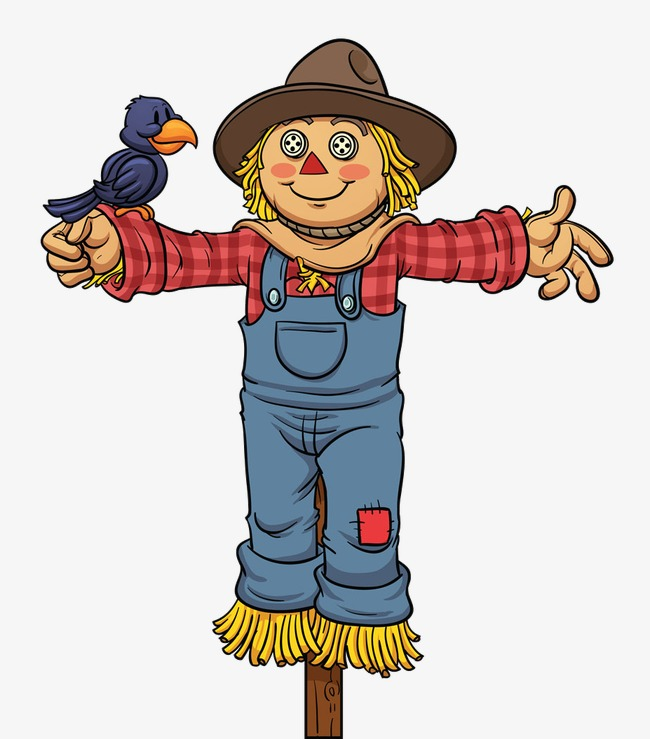 650x739 Scarecrow, Cartoon, Sparrow Png Image And Clipart For Free Download