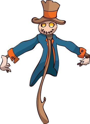 354x486 Scarecrow Vector Clipart