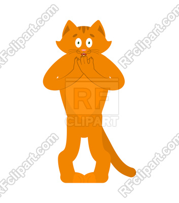 353x400 Cat Scared Omg Emotion Royalty Free Vector Clip Art Image