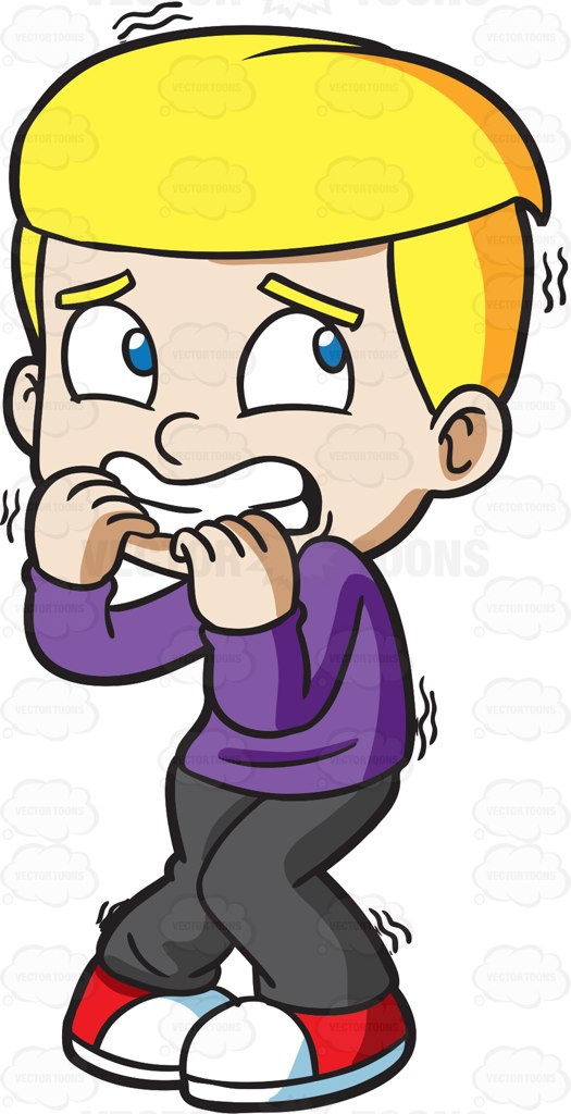 525x1024 A Scared And Shaking Boy Cartoon Clipart Vector Toons