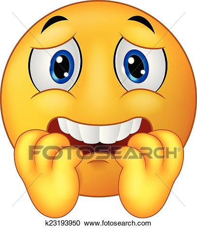 406x470 Scared Clipart Clipart Of Scared Emoticon Smiley Cartoon K23193950