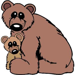 300x300 Brown Bear Clipart Family