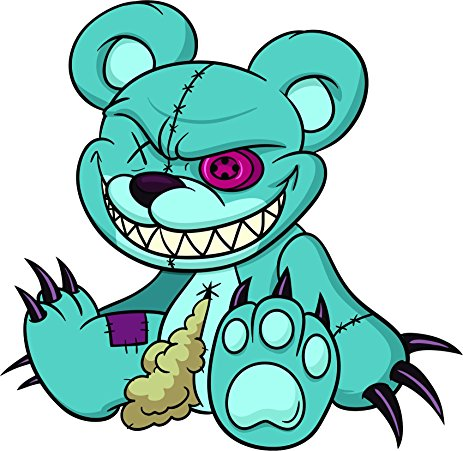 463x451 Creepy Clipart Teddy Bear