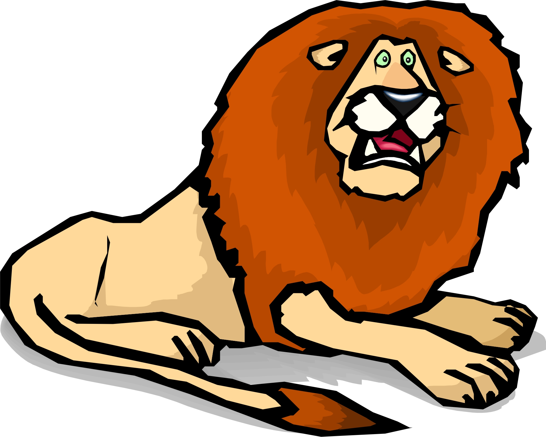 1890x1514 Lion Clipart Scared