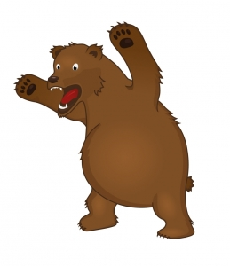 259x300 Angry Bear Clipart