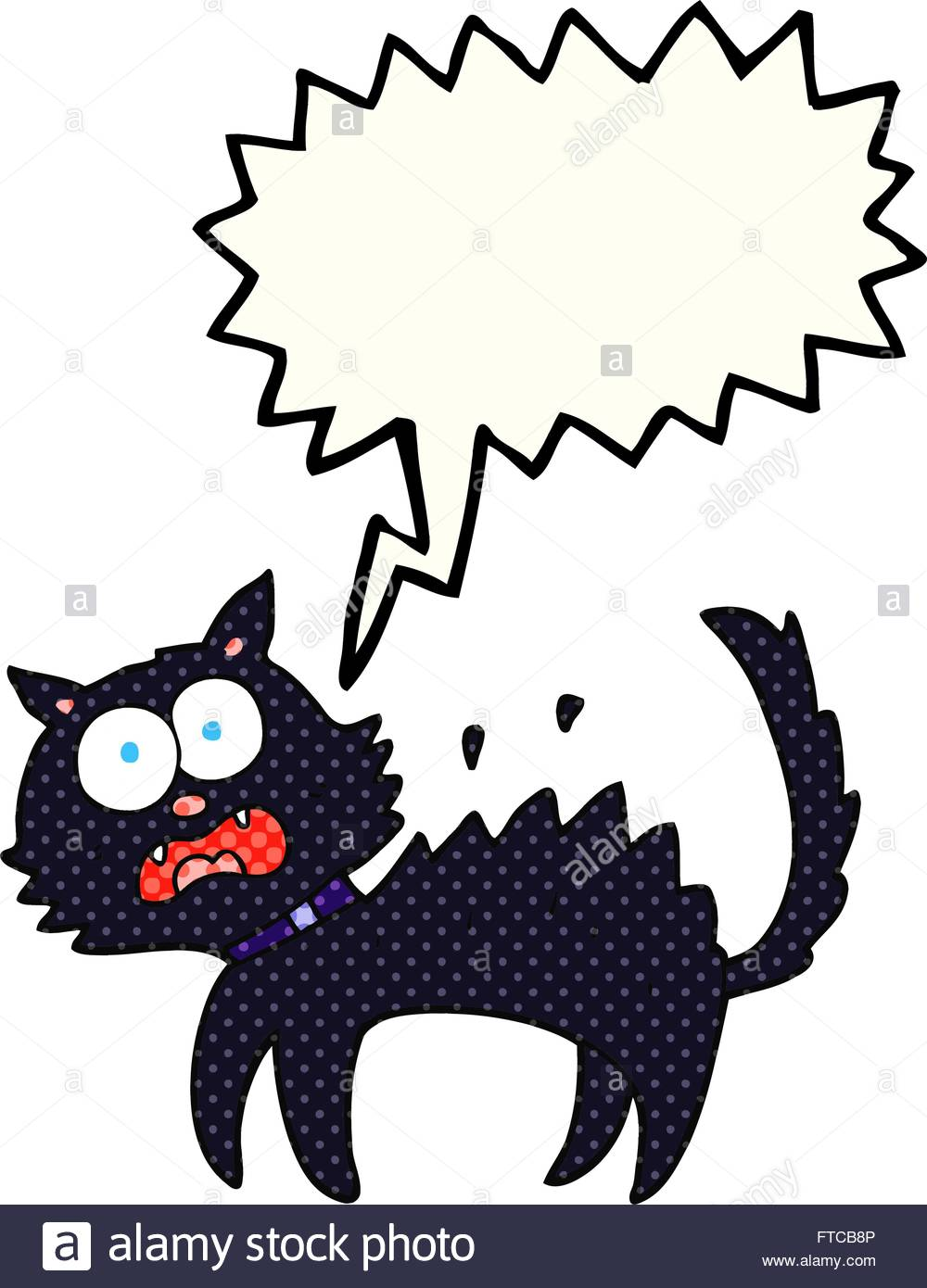 1000x1390 Drawn Black Cat Scared