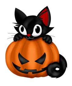 236x284 Free Vector Illustration Of Scary Witch Cat With 3d Pumpkin 40117