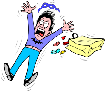 350x301 Scary People Running Scared Clipart Free Clipart Images 3 Image