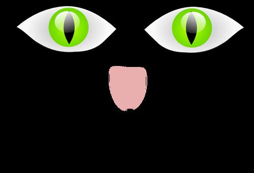 500x341 Vector Clip Art Of Cat With Green Eyes Public Domain Vectors