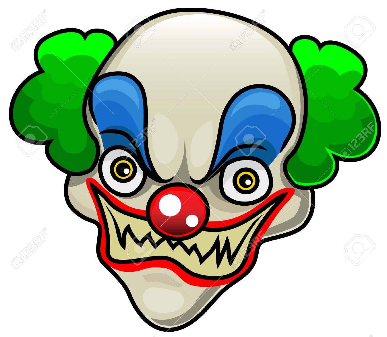 Scary Clown Clipart