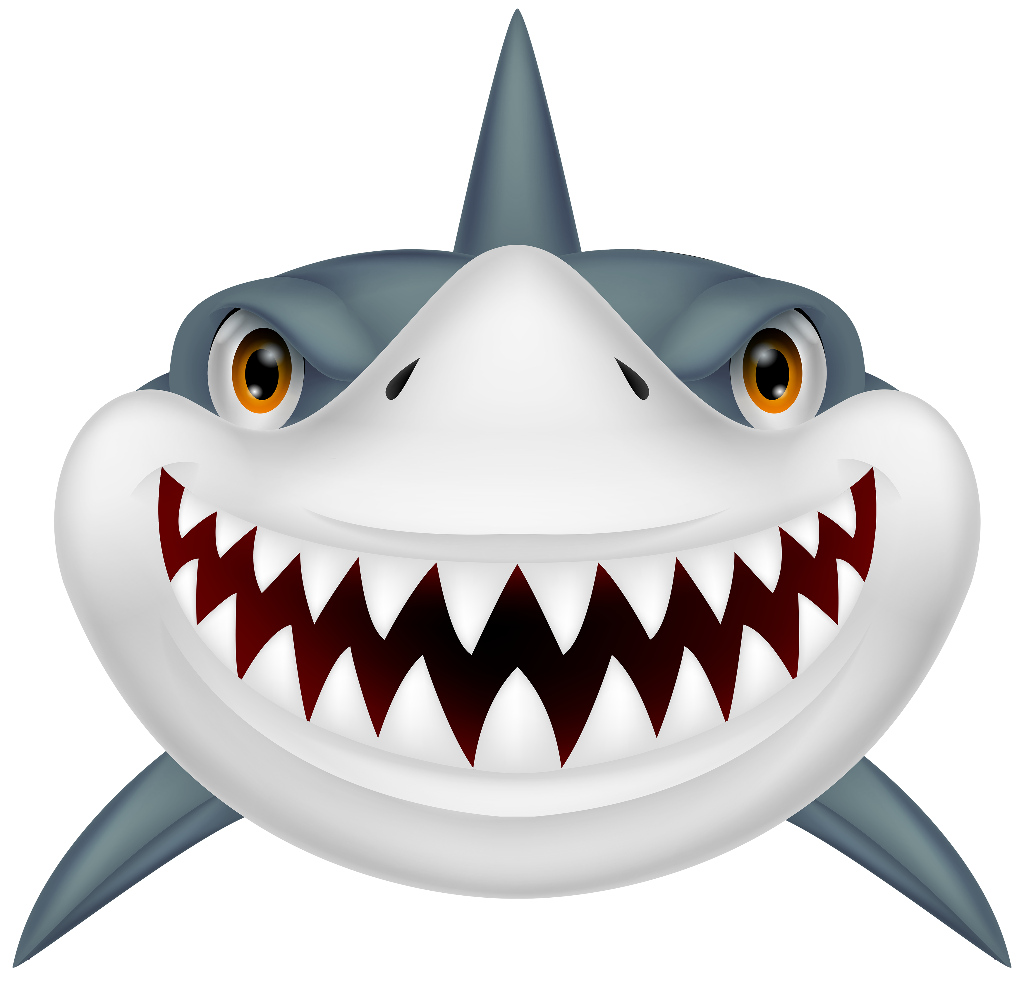 3500x3387 Scary Shark Png Clipart