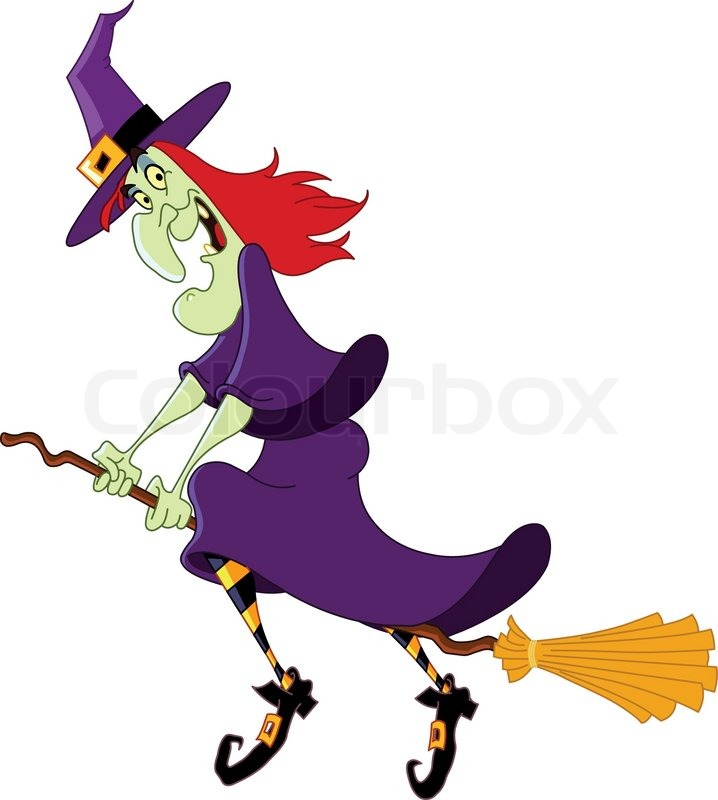 718x800 Witch Clipart Broom Cartoon