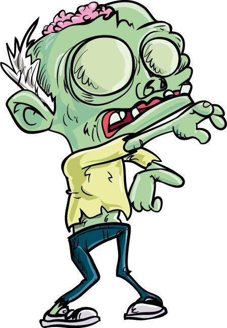 Scary Zombie Clipart