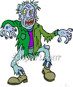 251x300 Scary Zombie Clipart