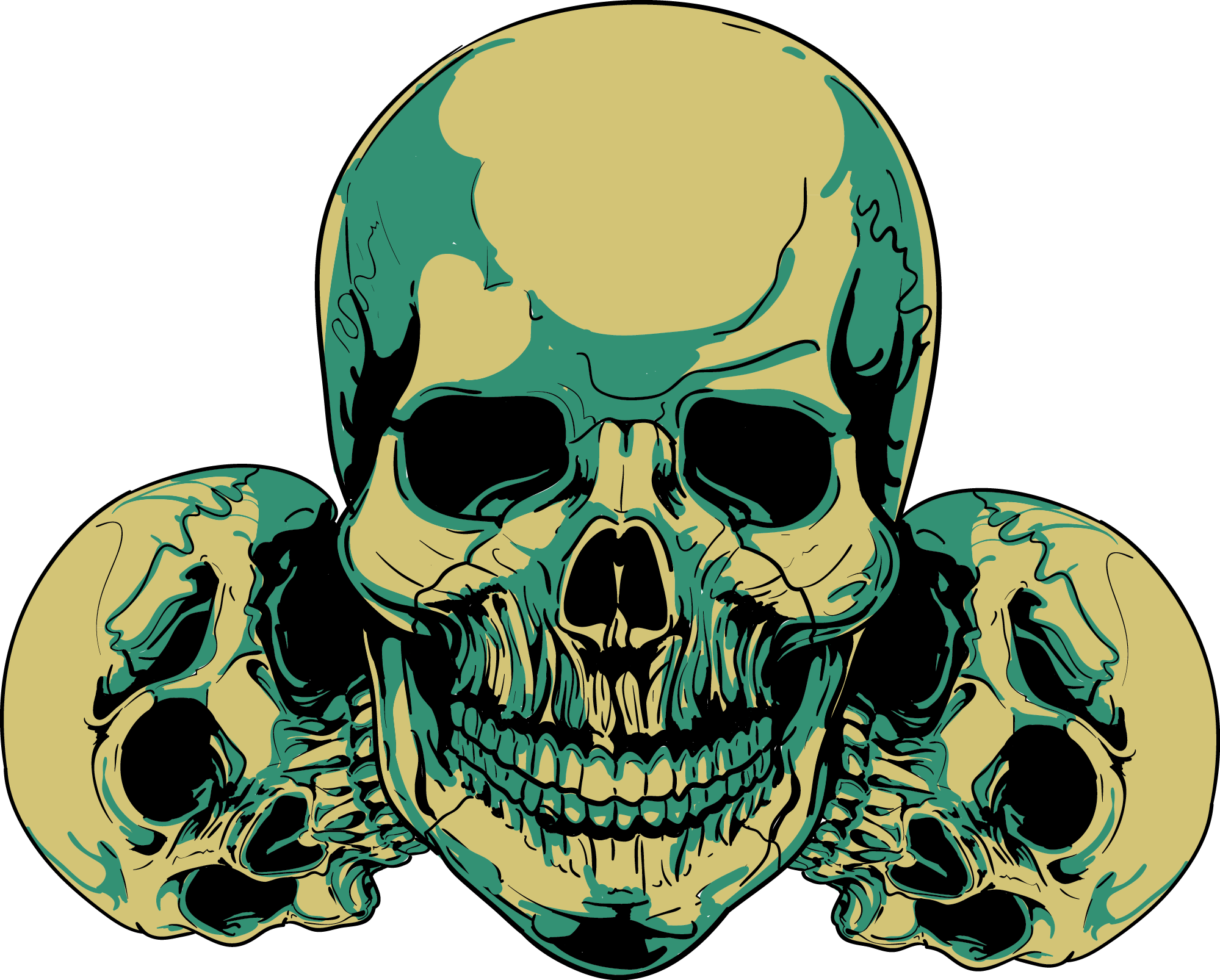 1999x1606 Skull Clip Art