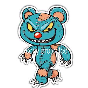 300x300 Funny Car Bumper Sticker Evil Teddy Bear Scary Zombie Halloween