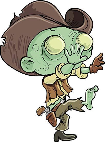 409x550 Scary Ugly Halloween Undead Cowboy Zombie Cartoon