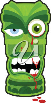176x350 Clip Art Illustration Of A Scary Zombie