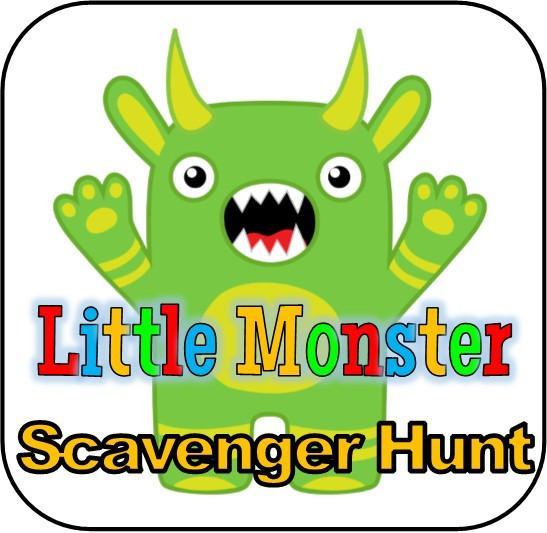 547x533 Little Monster Printable Scavenger Hunt Partygamesplus