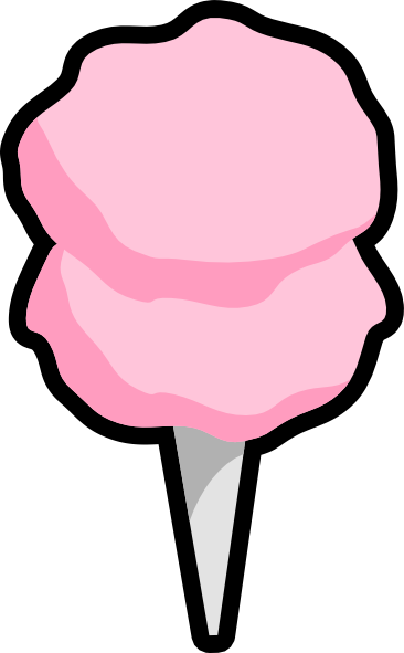 366x591 Cotton Candy Clip Art
