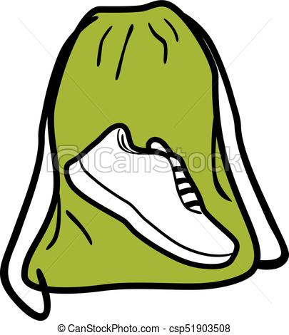 405x470 Bag For Gym Shoes. Icon For Design. Vector Illustration Vector