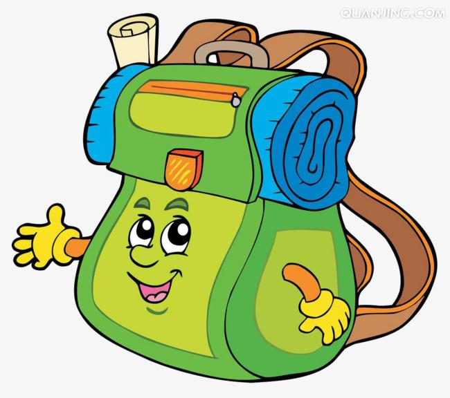650x576 Cartoon Bag, School Bag, School Supplies, Cartoon Characters Png