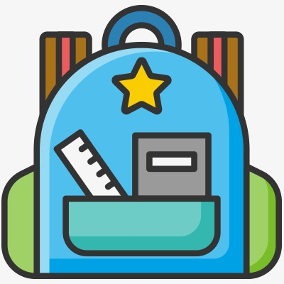 400x400 School Bag, Vector Icons, Backpack, School Supplies Png Image