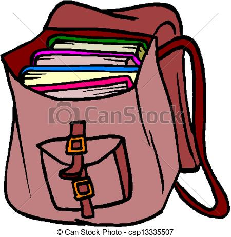 450x462 Book Bag Clip Art School Bag With Books Vector Clipart Search