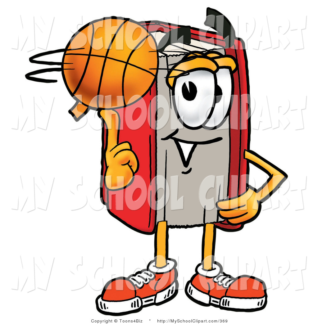 1024x1044 Clip Art Of An Athletic Red Book Mascot Cartoon Character Spinning