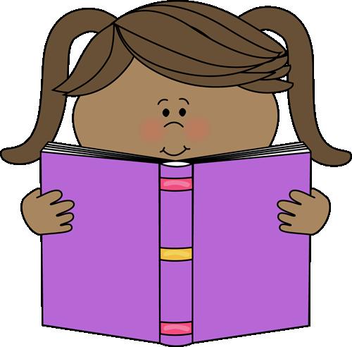 500x492 Little Girl Reading A Book Van A Tot Z , Het Alfabet