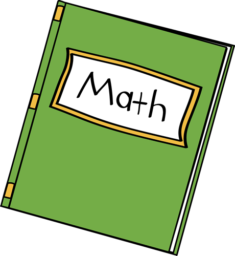 460x500 Math Book Clip Art
