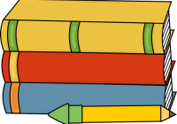 200x140 School Books Clipart School Bag With Books Vector Illustration