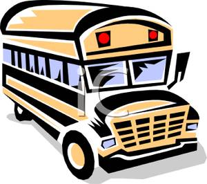 300x266 Art Image The Front Of A Yellow School Bus
