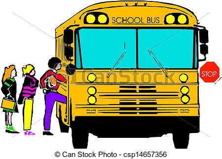 450x324 School Bus Images Clip Art School Bus With Of Kids Clipart Vector