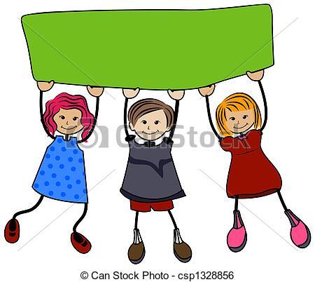 450x402 School Children Clip Art School Children With Blank Board Stock