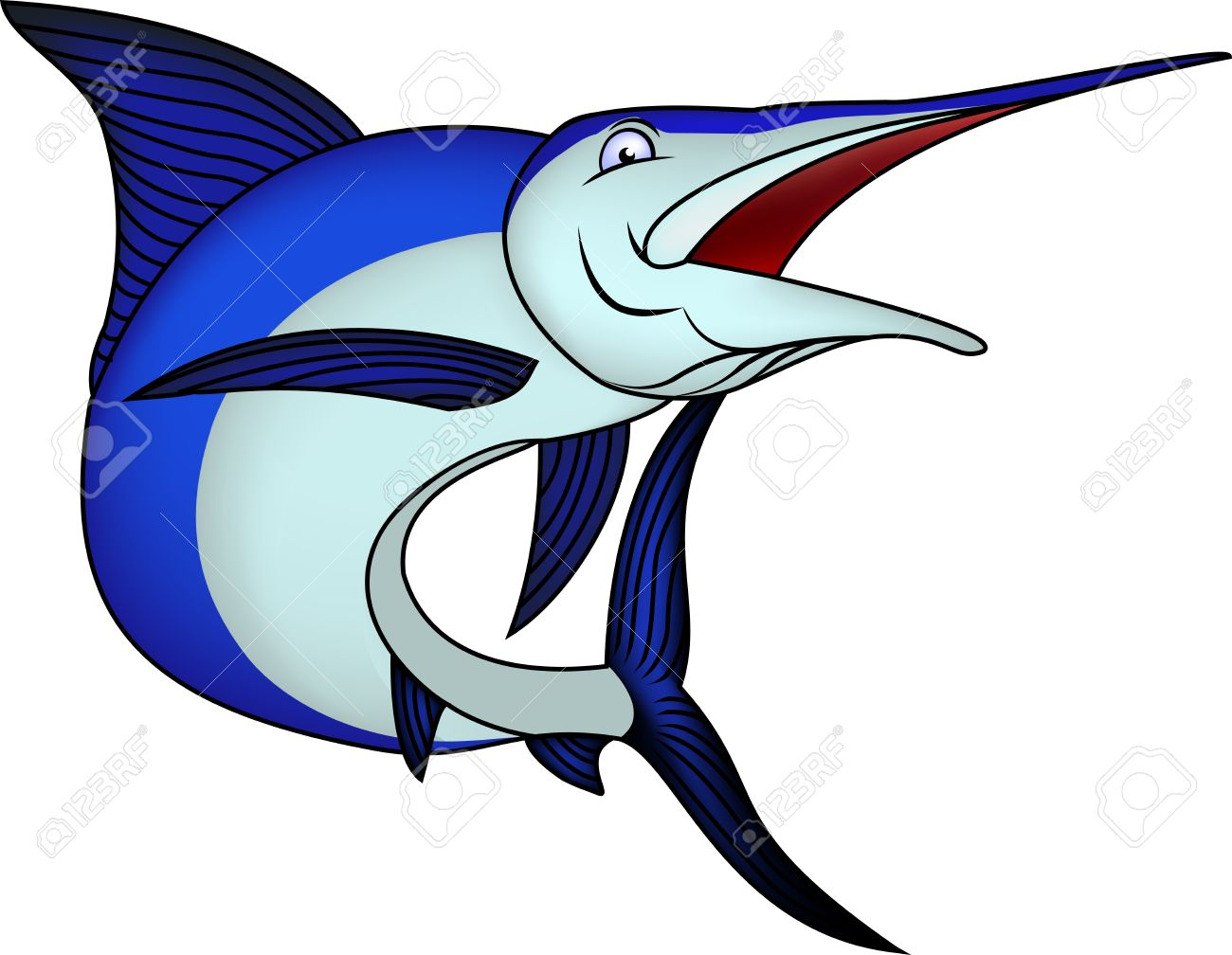 1300x1008 Fish Clipart Blue Marlin