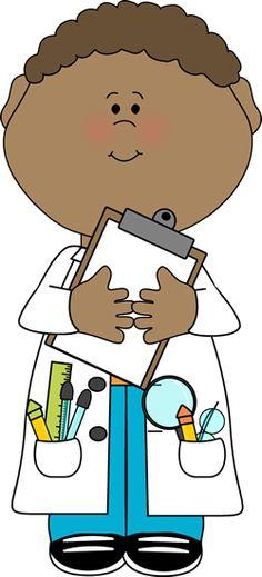 236x519 Kid Scientist With Test Tubes Clip Art