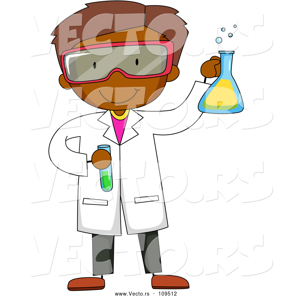 1024x1044 Vector Of Black Male Scientist Holding A Flask And Test Tube By