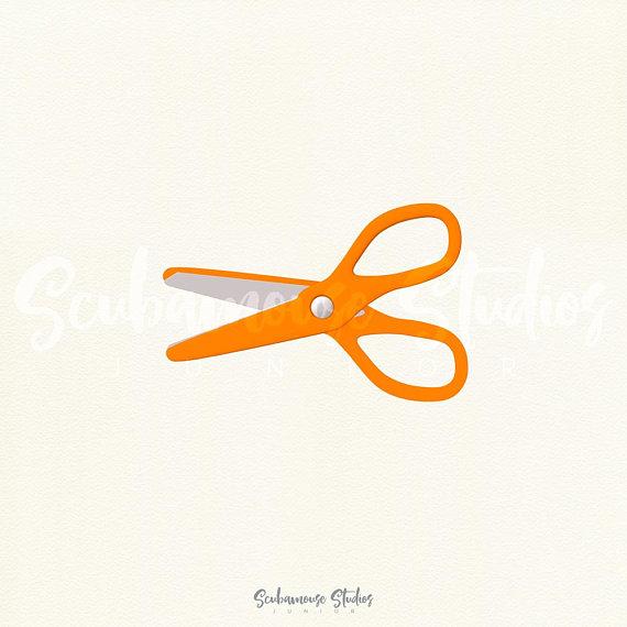 570x570 Orange Scissors Clipart, Orange Scissors Clip Art, Orange School
