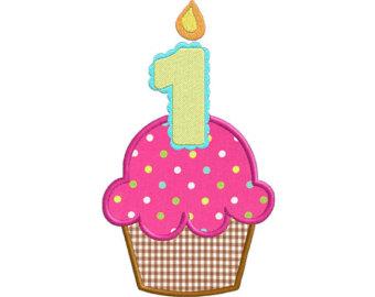 340x270 First Birthday Cupcake Clipart