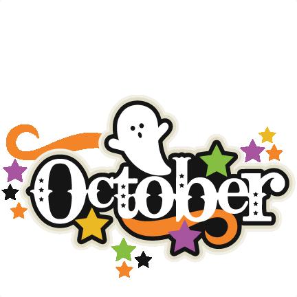 432x432 Clip Art For October October Title Svg Scrapbook Cut File Cute