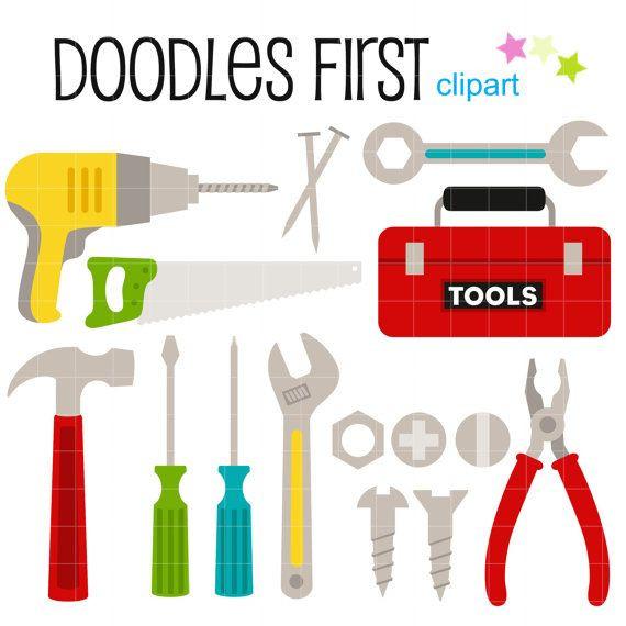 570x570 Elegant Screw Clipart Tool Box Digital Clip Art For Scrapbooking
