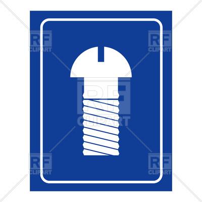 400x400 Screw Men Room. Wc Icon. Royalty Free Vector Clip Art Image