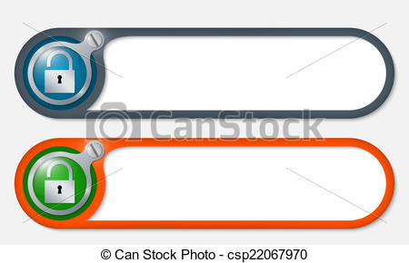 450x290 Vector Buttons With Screw And Padlock Vectors Illustration
