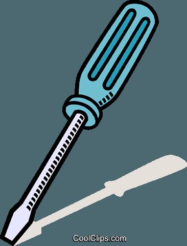 366x480 Screw Driver Royalty Free Vector Clip Art Illustration Vc011446