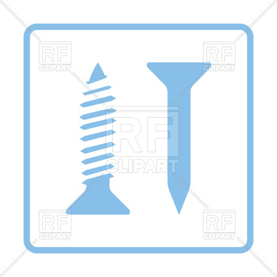 400x400 Blue Frame Design Of Icon Of Screw Royalty Free Vector Clip Art