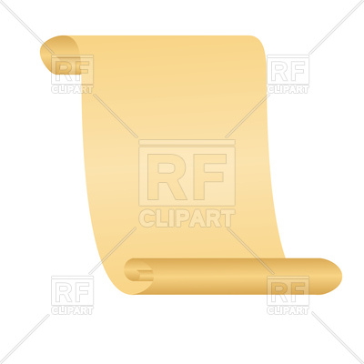 400x400 Old Scroll Paper Royalty Free Vector Clip Art Image