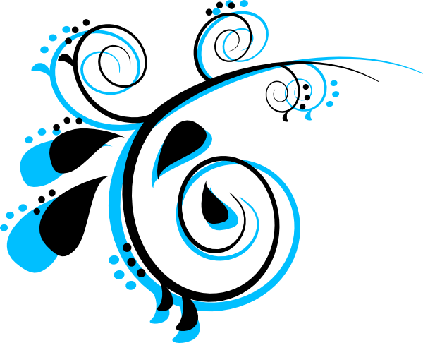 600x486 Scroll Black And Peacock Clip Art