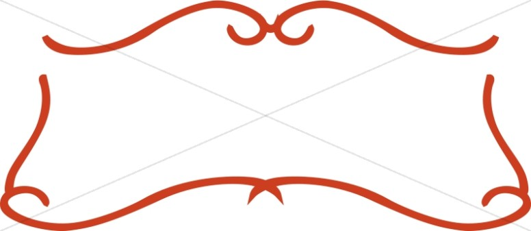 776x337 Scroll Border Clip Art Simple Red Scroll Frame Religious Borders