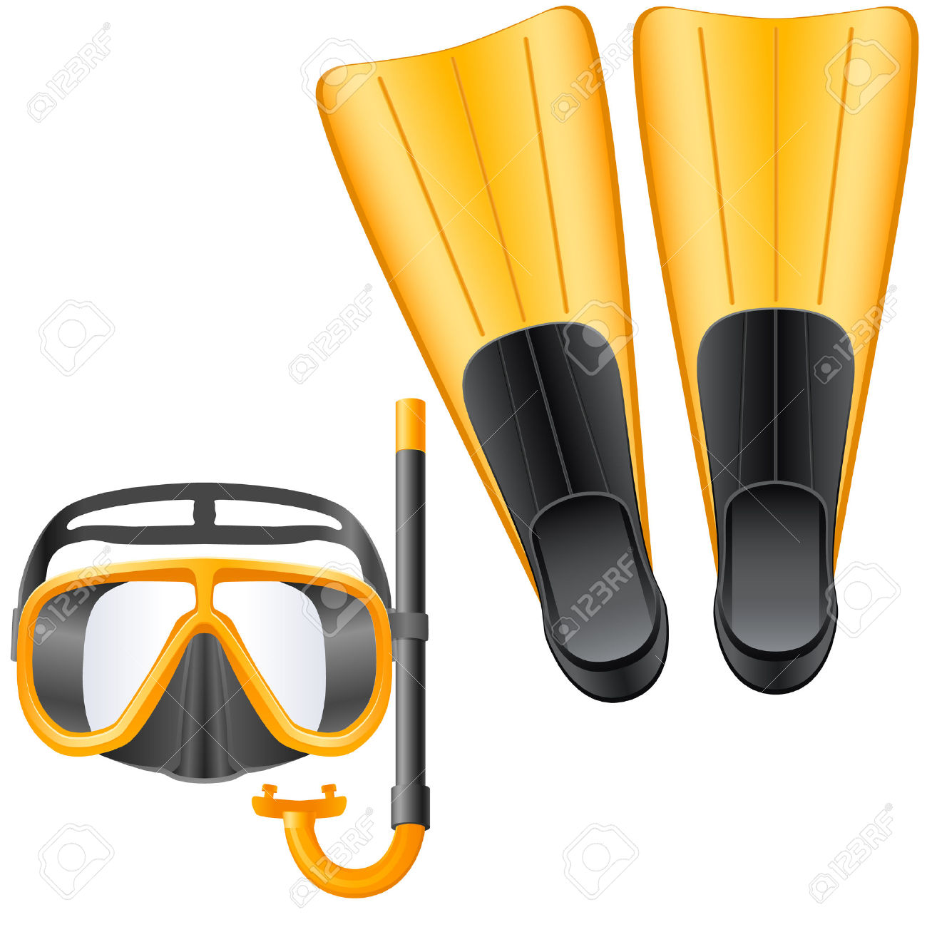 1300x1300 Diving Clipart Scuba Gear